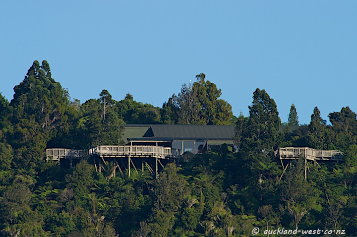 Arataki Visitor Centre from Lower Nihotupu Dam