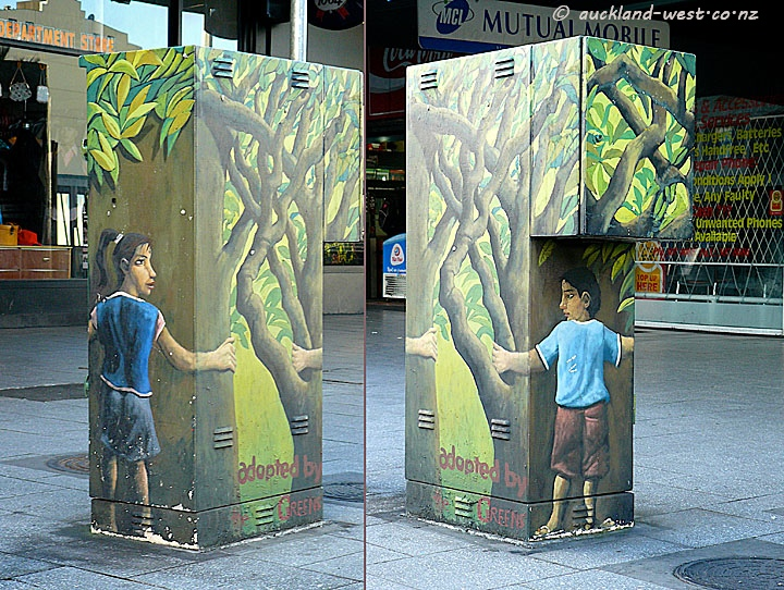 Painted Boxes: Tree Huggers