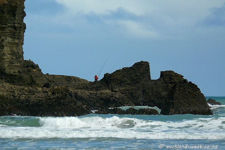 Fishing from the Rocks (Piha)