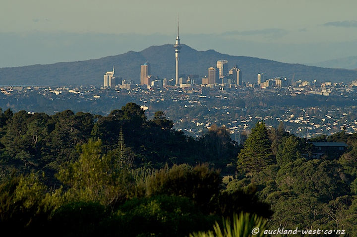 Auckland City from Arataki Visitor Centre