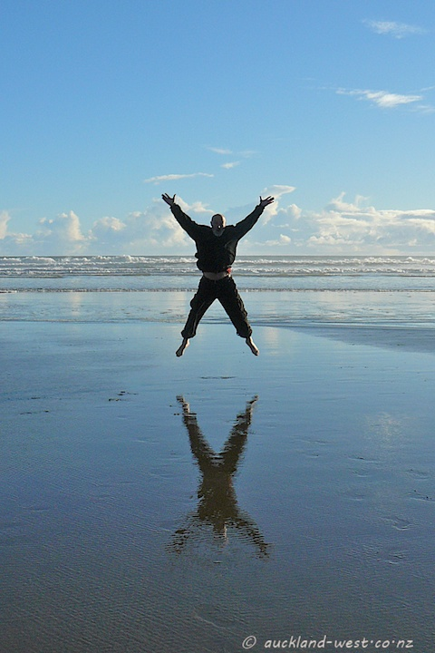 At Piha Beach