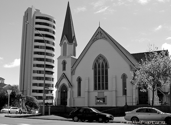 Westwater Apartments and St Stephens Presbyterian Church