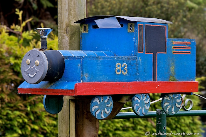 Thomas as Letterbox in Wood Bay