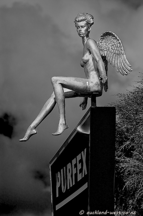 Winged Mannequin in Rosebank Industrial Are