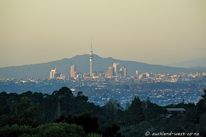 Auckland, seen from the West
