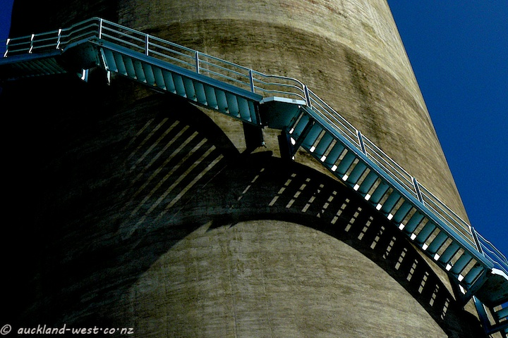 Straight Steps on Round Silo