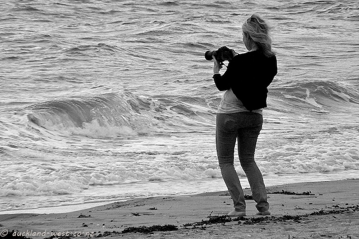 Photographer and Waves