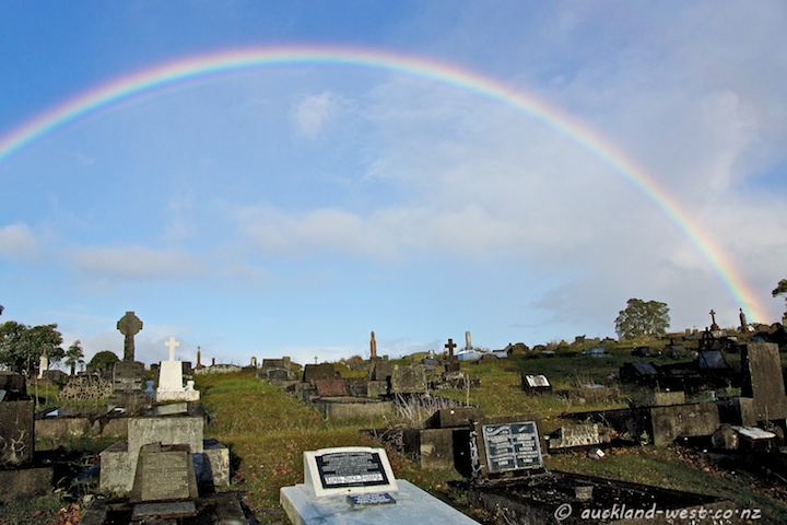 Waikumete Cemetery and Rainbow