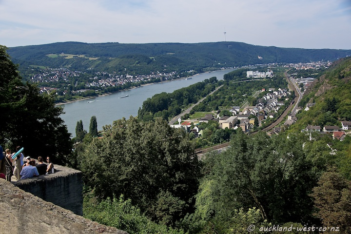View from the Marksburg (Rhine and Braubach)