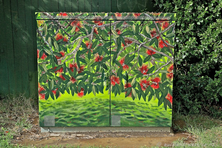 Painted Utility Box: Callistemon