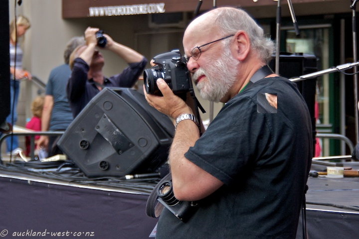 Photographer John Chapman in Action