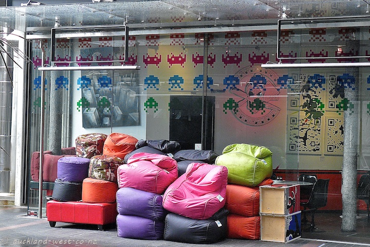Stacked Beanbags