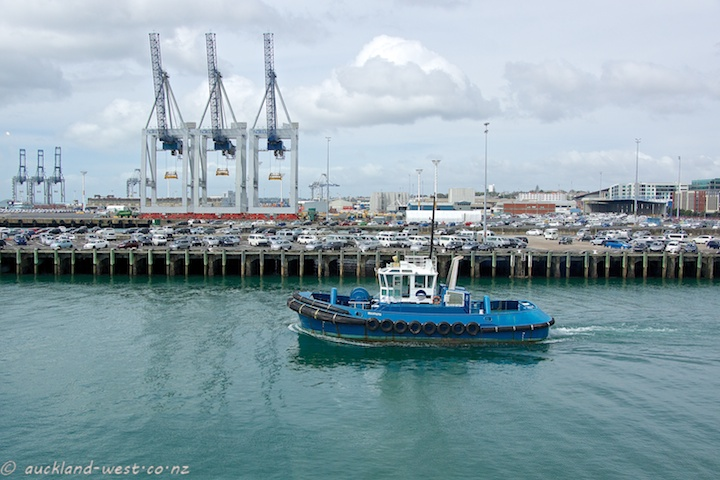 Blue Tugboat