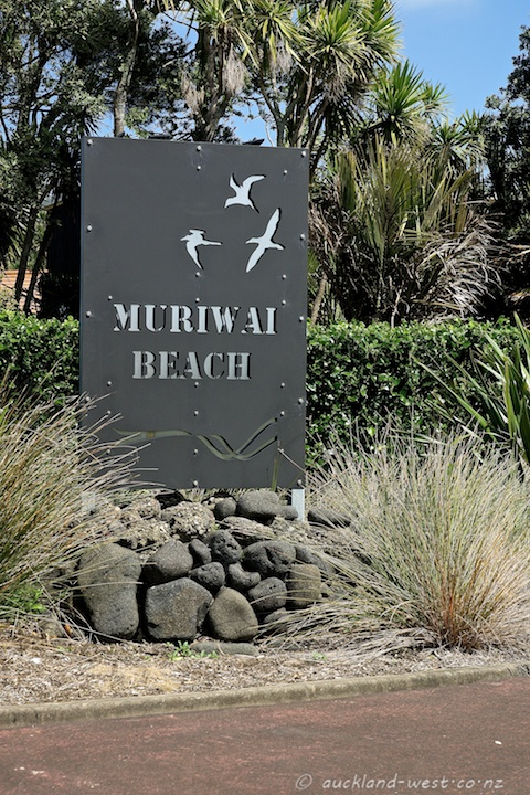 Location Signs: Muriwai Beach