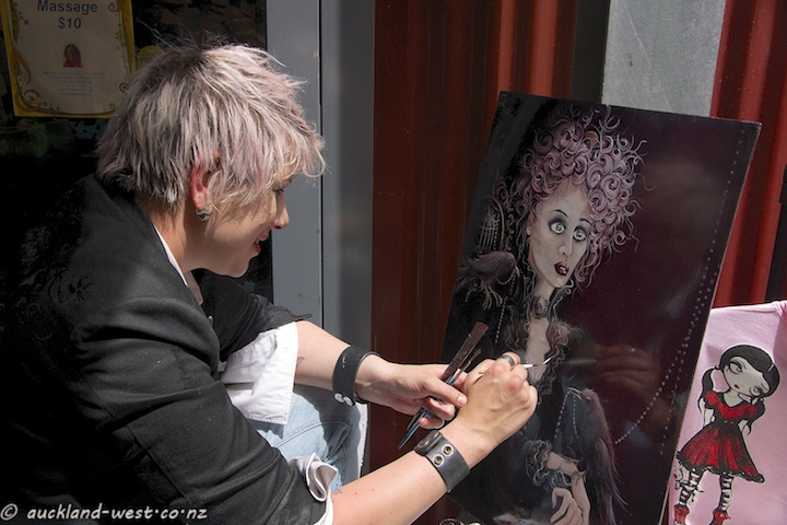 Live Painting at the Market