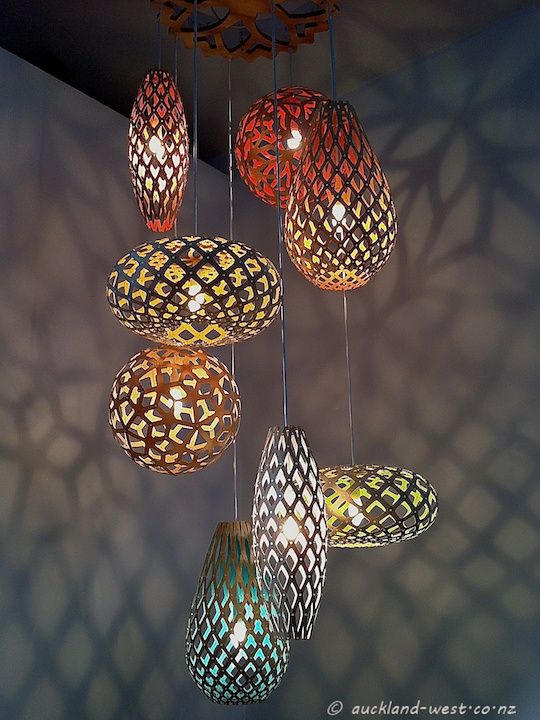 Eight Lamps by David Trubridge