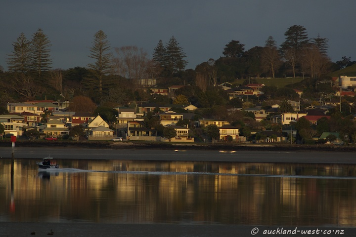 Looking across to Mangere Bridge
