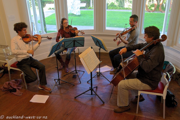 Jade String Quartet in Rehearsal