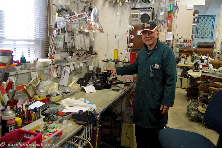 John in his Workshop