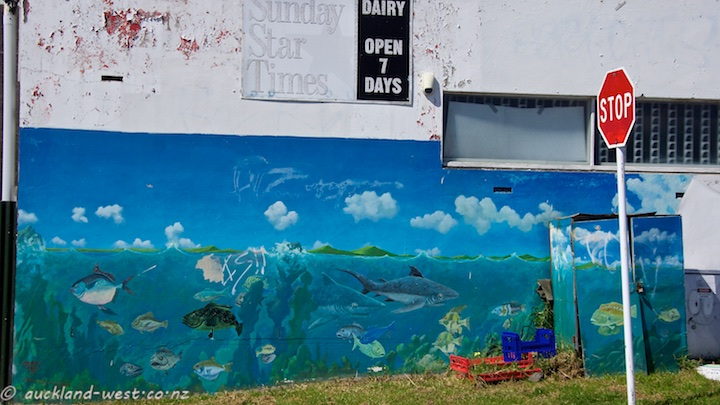 Fishy mural by Doug Ford