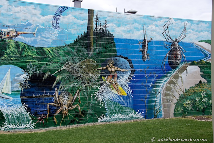 Te Atatu Mural by Cliff Uepa