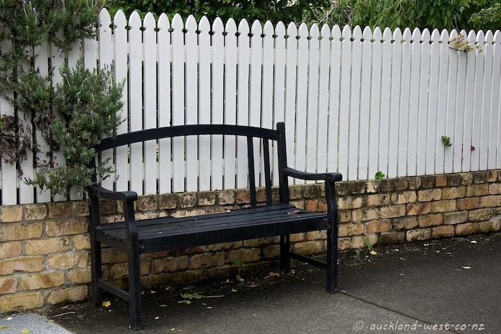 Picket Fence and Bench